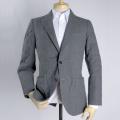 メンズジャケット(既製品) 日本製 グレーキルティング素材 サイズ違いによる返品無料【P21PLJ233】