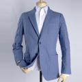 メンズジャケット(既製品) 日本製 ブルーキルティング素材 サイズ違いによる返品無料【P21PLJ235】
