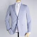 メンズジャケット(既製品) 日本製 本切羽 ニット ライトブルー サイズ違いによる返品無料【P21PLJ236】