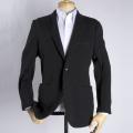 メンズジャケット(既製品) 日本製 毛混冬素材ニット 黒 ゆったりサイズ サイズ違いによる返品無料【P21PLJ238】