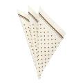 [軽井沢シャツ] ポケットチーフ 縦33cm×横33cm 日本製 ホワイト地レッドドット柄+レッド、グレー縁取り <P91KZT022>
