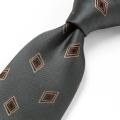[軽井沢シャツ] 日本製 西陣織 グレー系小紋柄 P94KZT849