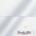 メンズパターンオーダーシャツ イタリア製 ALBINI バスケット ホワイト 【S71EXM006】