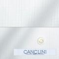 メンズパターンオーダーシャツ イタリア製 CANCLINI ホワイトチェック柄 【S71EXM204】