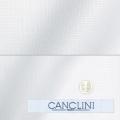 メンズパターンオーダーシャツ イタリア製 CANCLINI ホワイトドビー 【S71EXM205】