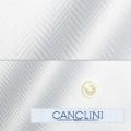 メンズパターンオーダーシャツ イタリア製 CANCLINI ホワイトボールドヘリンボーン 【S71EXM209】