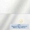 メンズパターンオーダーシャツ イタリア製 MONTI ホワイトドビーストライプ 【S71EXM606】
