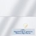 メンズパターンオーダーシャツ イタリア製 MONTI ホワイトヘリンボーン 【S71EXM608】