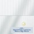 メンズパターンオーダーシャツ イタリア製 MONTI ホワイトドビーストライプ 【S71EXM610】