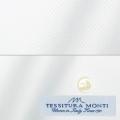 メンズパターンオーダーシャツ イタリア製 MONTI ホワイトバスケット風ドビー 【S71EXM612】