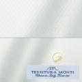 メンズパターンオーダーシャツ イタリア製 MONTI ホワイトダイヤ柄ドビー 【S71EXM613】