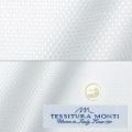 メンズパターンオーダーシャツ イタリア製 MONTI ホワイトダイヤ柄ドビー 【S71EXM614】