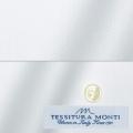 メンズパターンオーダーシャツ イタリア製 MONTI ホワイトヘリンボーン 【S71EXM617】