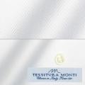 メンズパターンオーダーシャツ イタリア製 MONTI ホワイトドビー 【S71EXM657】