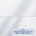 メンズパターンオーダーシャツ イタリア製 MONTI ホワイトドビー 【S71EXM658】