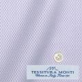 メンズパターンオーダーシャツ イタリア製 MONTI ライトパープルドビー柄 【S71EXMM09】