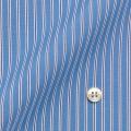 メンズパターンオーダーシャツ イタリア製 THOMASMASON 白地ブルー系マルチストライプ 【S71EXMT24】