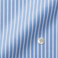 メンズパターンオーダーシャツ THOMAS MASON ブルー×白ストライプ 【S71EXMW09】