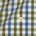 メンズパターンオーダーシャツ SLUB糸使用 形態安定 吸水速乾 カーキチェック 【S71SKBG07】