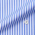 メンズパターンオーダーシャツ 綿100% サックスロンスト 80番双糸 【S71SKF010】