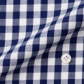 メンズパターンオーダーシャツ 綿100% ブルーギンガムチェック 【S71SKF013】