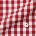 メンズパターンオーダーシャツ 綿100% レッドギンガムチェック 【S71SKF014】