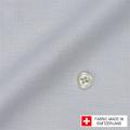 メンズパターンオーダーシャツ スイスコットン 麻混紡 グレー 【S71SKF034】