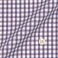 メンズパターンオーダーシャツ 綿100% ブルー×レッドチェック 【S71SKF047】