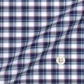 メンズパターンオーダーシャツ 綿100% グレー×パープル×ブルーチェック 【S71SKF053】