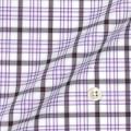 メンズパターンオーダーシャツ 綿100% パープル×ブラウンチェック 【S71SKF057】