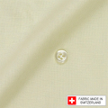 メンズパターンオーダーシャツ スイスコットン 麻混紡 イエロー 【S71SKF072】
