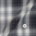 メンズパターンオーダーシャツ ブラウン×ベージュチェック 純綿 【S71SKF075】
