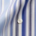 メンズパターンオーダーシャツ ブルー系マルチストライプ 純綿 【S71SKF076】