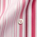 メンズパターンオーダーシャツ レッド系マルチストライプ 純綿 【S71SKF081】