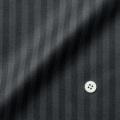 メンズパターンオーダーシャツ ブラック×グレーストライプ 【S71SKFD83】