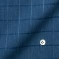 メンズパターンオーダーシャツ ネイビードビーチェック柄インディゴ風 【S71SKFD94】