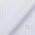 メンズパターンオーダーシャツ ICECAPSULE ホワイト×ブルーストライプ 【S71SKFE96】
