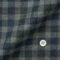 メンズパターンオーダーシャツ 純綿 グレー濃淡×ネイビーツイルチェック柄起毛 【S71SKFEL7】