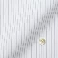 メンズパターンオーダーシャツ 接触冷感・抗菌防臭 ホワイト×グレーストライプ 【S71SKFEM1】
