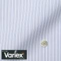 メンズパターンオーダーシャツ Variex ホワイト×パープル系ドビーストライプ 【S71SKFEM6】
