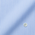メンズパターンオーダーシャツ 純綿 ライトブルー×ホワイトミニストライプ 【S71SKFES1】