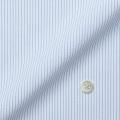 メンズパターンオーダーシャツ トリコットニット ホワイト×ブルードビーストライプ 【S71SKFF83】