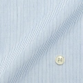 メンズパターンオーダーシャツ 形態安定 白場ブルーピンストライプ 【S71SKFT32】