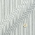 メンズパターンオーダーシャツ 形態安定 白場ブラックピンストライプ 【S71SKFT33】