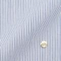 メンズパターンオーダーシャツ 形態安定 白場ネイビーストライプ 【S71SKFT34】