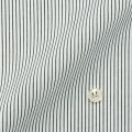 メンズパターンオーダーシャツ 形態安定 白場ブラックストライプ 【S71SKFT35】