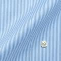メンズパターンオーダーシャツ 純綿 形態安定・80番双糸使用 白場ライトブルーストライプ 【S71SKFU17】