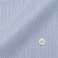 メンズパターンオーダーシャツ 純綿 形態安定・80番双糸使用 白場ネイビーストライプ 【S71SKFU18】