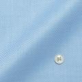 メンズパターンオーダーシャツ 純綿 形態安定 ライトブルーカルゼドビー 【S71SKFU21】