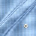 メンズパターンオーダーシャツ 純綿 形態安定 ライトブルーミニチェック 【S71SKFU29】